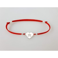 "Bracelet ""Heart name"" with crown"