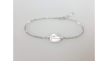 "Bracelet ""Heart diagonal"" on a chain"