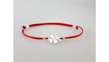 "Bracelet ""Clover with tail"""