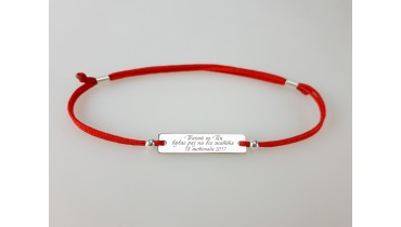 "Bracelet ""Rectangle with Name"""