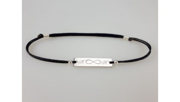 "Bracelet ""Rectangle with Name"" with infinity"