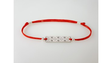 "Bracelet ""Rectangle embroidery"" with geometric ornament"