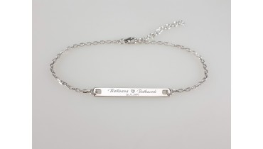 "Bracelet ""Men's Rectangle"" on the chain"
