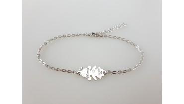 """Bracelet """"Girl Leila"""" on the chain"""