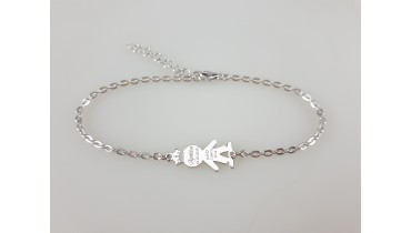 "Bracelet ""Boy with a crown"" on a chain"
