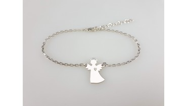 """Bracelet """"Angel with Halo"""" on a chain"""