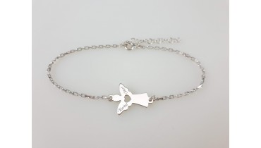 """Bracelet """"Angel with Heart"""" on the chain"""