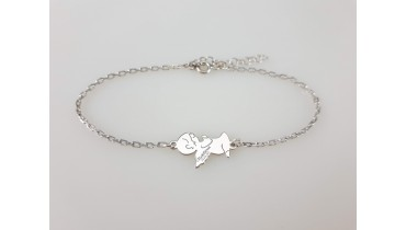 "Bracelet ""Angel on his lap"" on the chain"