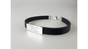 Silver bracelet on the skin